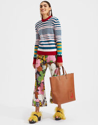 Striped Crew Neck in Rosa Mix 3