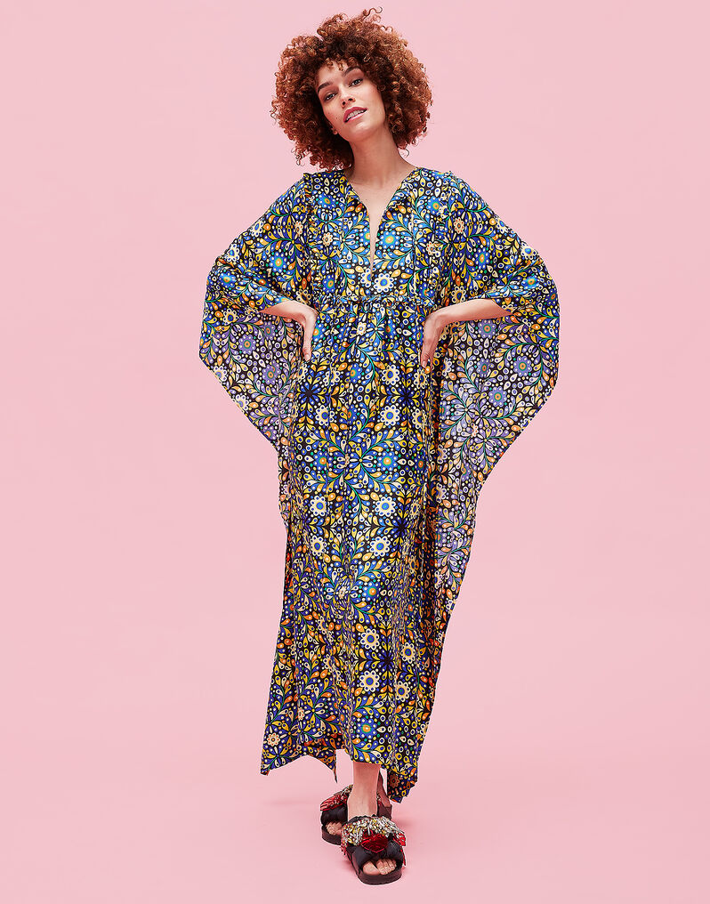 Talitha Kaftan - Confetti Blu in Silk