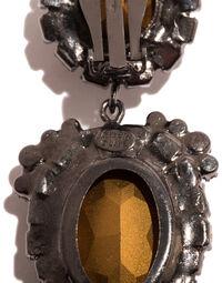 Marie Antoinette-style Kenneth Jay Lane pendant earrings, 2000s