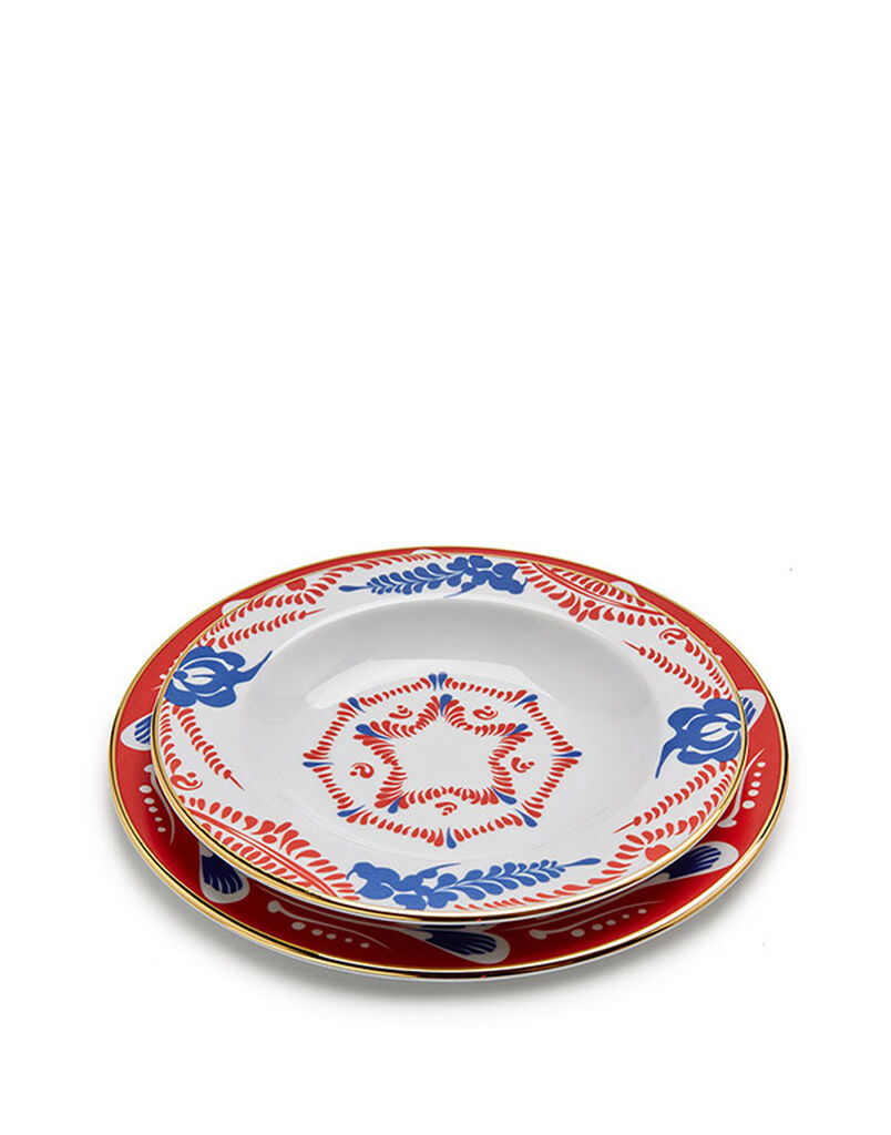 Soup And Dinner Plates Set