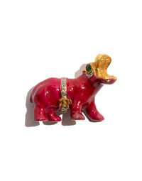 Kenneth Jay Lane hippo pin, 1960s