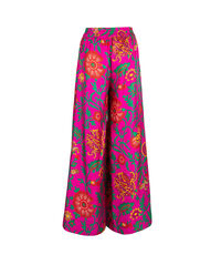 Palazzo Pants in Dragon Flower Fucsia