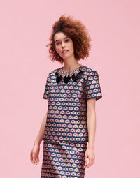 Cubi Verdi The Embroidered Jazzy Tee 1
