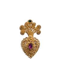 Christian Lacroix heart pin, 1990s