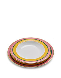 Soup And Dinner Plates Set 4