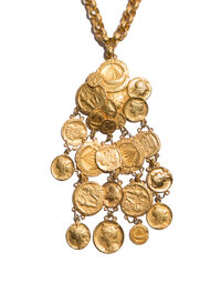 Ancient coin necklace, 1990s