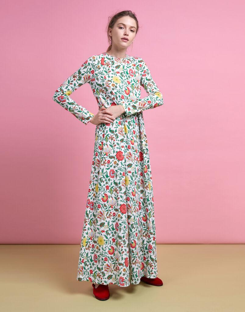Dragon Flower Trapezio Dress