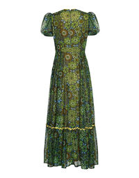 Multicolored print dress, 1980s