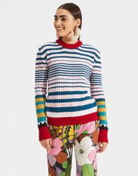 Striped Crew Neck in Rosa Mix 2