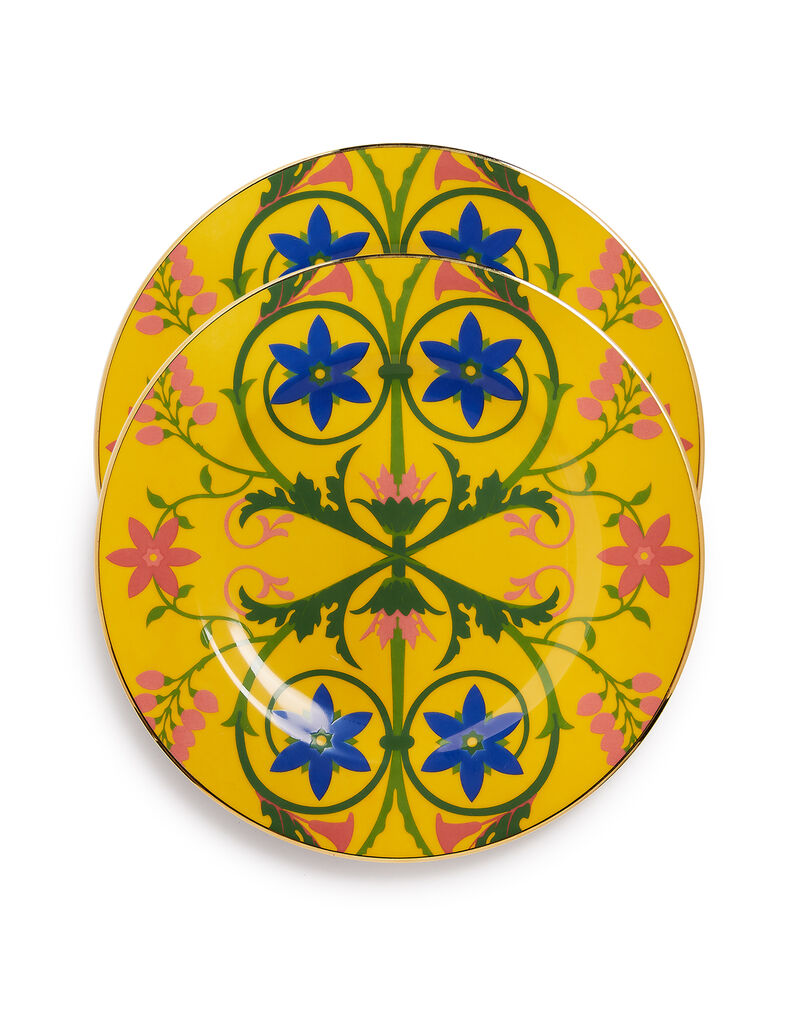 Dinner Plates Set of 2 in Stella Alpina Yellow