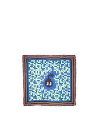 Mezza Luna Blu Fringed Scarf (140x140 cm) 1