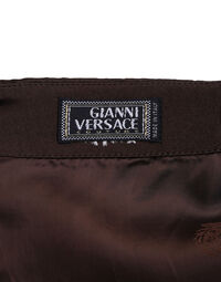 Gianni Versace satin brown short dress, 1990s