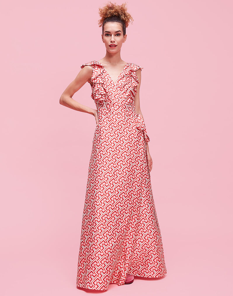 Domino Valentino Wedding Guest Dress