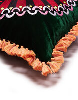 Velvet Embroidered Cushion