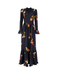 Visconti Dress - Space Flower in Crepe de Chine