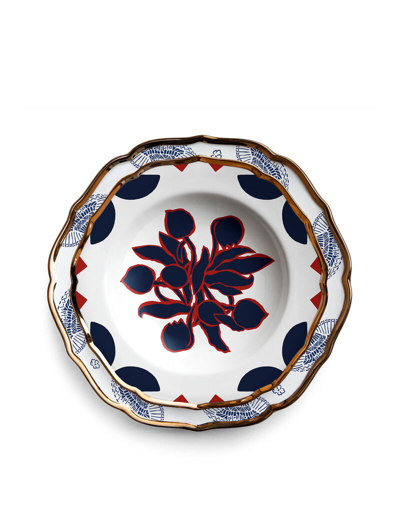 Oppio Soup and Dinner Plates Set of 2