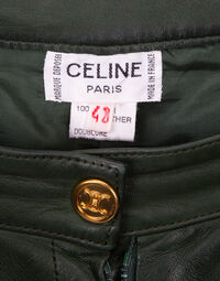 Celine Leather Coulottes, 1970s 3