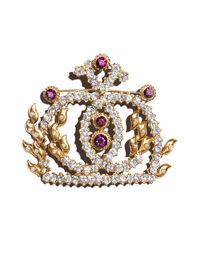 Gianni Versace for Genny crown brooch by Ugo Correani, 1980s