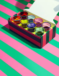 Rainbow Glasses set of 8 4