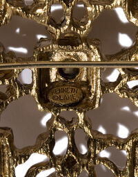 Kenneth Jay Lane cross pin, 2000s