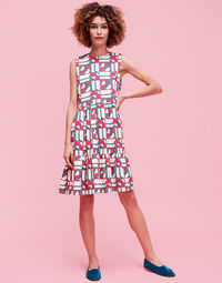 Geometrico Rosa Brunch Dress