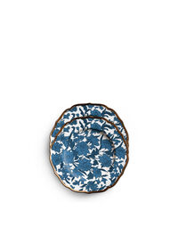 Lilium Blu Dessert Plates Set of 2