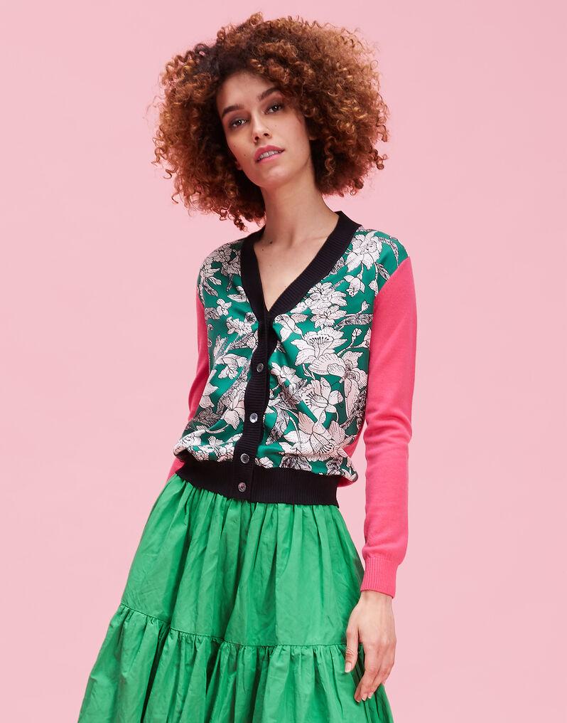Gemini Cardigan - Lilium Verde in Silk / Wool