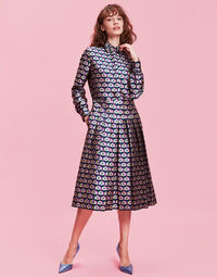 Cubi Verdi Embroidered Chemisier Dress
