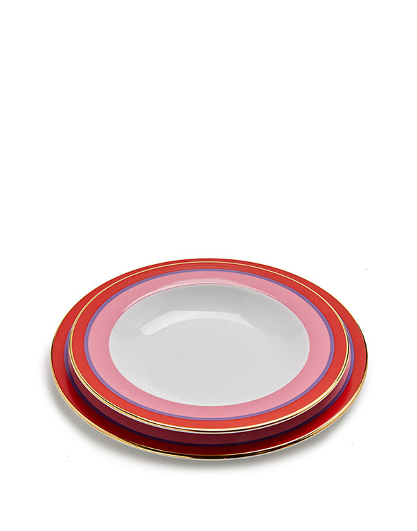 Soup And Dinner Plates Set Of 2
