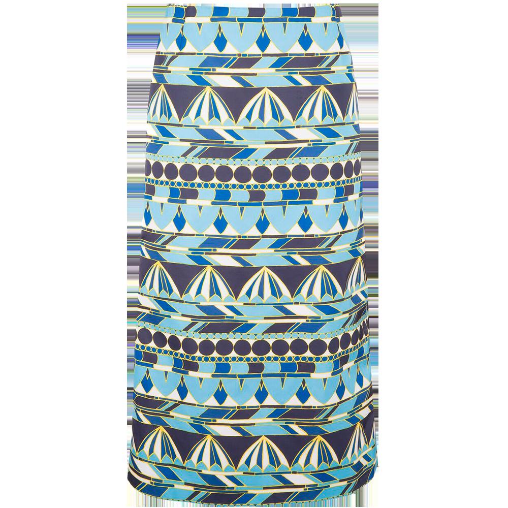 Umbrellas Blu Pencil Skirt
