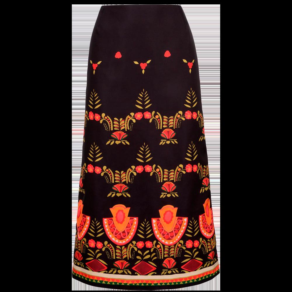 Messico Nero Pencil Skirt